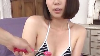 bikini brunette cumshot facials gang-bang hairy hot japanese small-tits