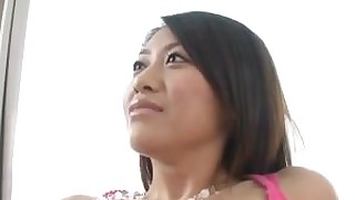 gorgeous japanese licking small-tits little brunette oral couple pornstar