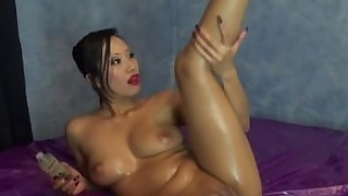 pussy oil natural nasty hot fetish brunette big-tits babe